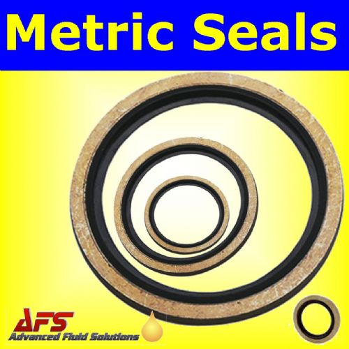 M10 Metric Self Centring Bonded Dowty Washer Seal